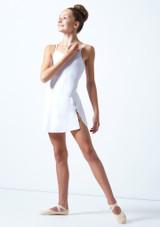 Falda circular para joven Ballet Rosa Teen Blanco  Delante-1 [Blanco ]