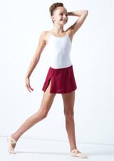 Falda circular para joven Ballet Rosa Teen Rojo  Delante-1 [Rojo ]