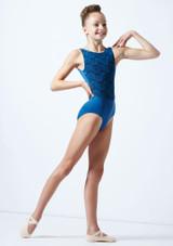Maillot bordado sin mangas para joven Ballet Rosa
