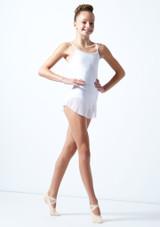 Falda de malla con cinturilla para joven Ballet Rosa Blanco  Delante-1 [Blanco ]