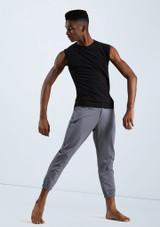 Boys Cropped Pinstripe Pants [Gris]