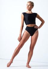 Culote con cintura alta Elouise Move Dance Negro  Delante-1 [Negro ]