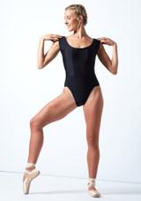 Maillot con escote redondo ancho Anastasia Move Dance Negro  Delante-1 [Negro ]