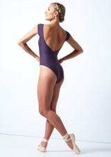 Maillot con escote redondo ancho Anastasia Move Dance Grape  Detrás-1 [Grape ]