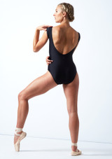 Maillot con escote redondo ancho Anastasia Move Dance Negro  Detrás-1 [Negro ]