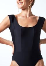 Maillot con escote redondo ancho Anastasia Move Dance Negro  Detalle delantero-1 [Negro ]