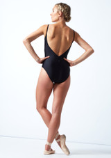 Maillot con espalda baja Audrey Move Dance Negro  Detrás-1 [Negro ]