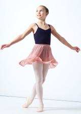 Falda de gasa Adaline para adolescente Move Dance Rosa  Detrás-1 [Rosa ]