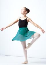 Falda de gasa Adaline para adolescente Move Dance Verde  Delante-1 [Verde ]
