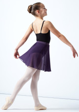 Falda de gasa Adaline para adolescente Move Dance Cream Delante-1 [Cream]