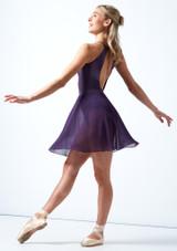 Falda de danza cruzada floral Move Dance - Azul Violeta  Detrás-2 [Violeta ]
