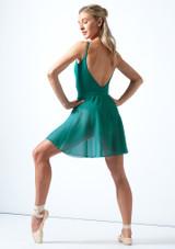 Falda de danza cruzada floral Move Dance - Azul Rosa  Delante-1 [Rosa ]