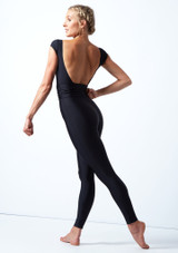 Tuta intera con cintura e scollo sulla schiena Francesca Move Dance Negro  Detrás-1 [Negro ]
