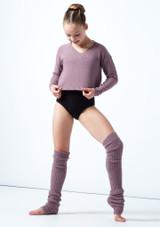 Felpa per ragazze con scollo a V lavorata a maglia Louisa Move Dance Violeta  Delante-1 [Violeta ]