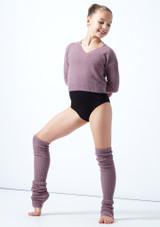 Felpa per ragazze con scollo a V lavorata a maglia Louisa Move Dance Violeta  Delante-2 [Violeta ]