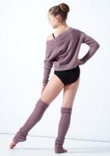 Felpa per ragazze con scollo a V lavorata a maglia Louisa Move Dance Violeta  Detrás-1 [Violeta ]