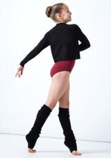 Felpa per ragazze con scollo a V lavorata a maglia Louisa Move Dance Negro  Detrás-1 [Negro ]