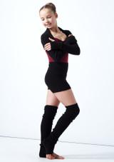Coprispalle per ragazze lavorato a maglia Daniella Move Dance Negro  Delante-1 [Negro ]