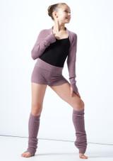 Coprispalle per ragazze lavorato a maglia Daniella Move Dance Violeta  Delante-1 [Violeta ]