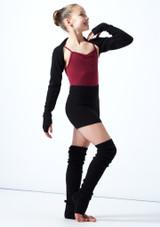 Coprispalle per ragazze lavorato a maglia Daniella Move Dance Negro  Delante-2 [Negro ]