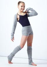 Coprispalle per ragazze lavorato a maglia Daniella Move Dance Gris  Delante-1 [Gris ]
