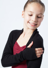 Coprispalle per ragazze lavorato a maglia Daniella Move Dance Violeta  Delante-1T [Violeta ]