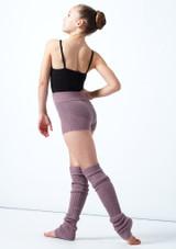 Pantaloncini danza per ragazze lavorati a maglia arrotolabili Isabella Move Dance Violeta  Detrás-2 [Violeta ]