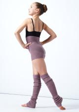 Pantaloncini danza per ragazze lavorati a maglia arrotolabili Isabella Move Dance Violeta  Detrás-1 [Violeta ]