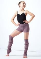 Pantaloncini danza per ragazze lavorati a maglia arrotolabili Isabella Move Dance Violeta  Delante-2 [Violeta ]