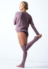 Felpa con scollo a V lavorata a maglia Madeline Move Dance Violeta  Detrás-1 [Violeta ]