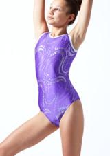 Maillot de gimnasia sin mangas Twister Tappers & Pointers Violeta  Delante-1T [Violeta ]