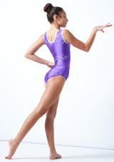 Maillot de gimnasia sin mangas Twister Tappers & Pointers Violeta  Detrás-2 [Violeta ]