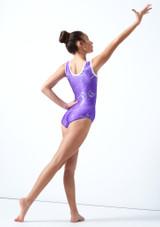 Maillot de gimnasia sin mangas Twister Tappers & Pointers Violeta  Detrás-1 [Violeta ]