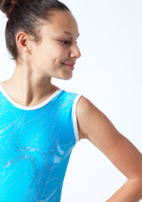 Maillot de gimnasia sin mangas Twister Tappers & Pointers Azul  Detalle delantero-1 [Azul ]