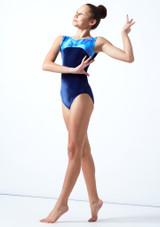 Maillot de gimnasia sin mangas Galaxy Tappers & Pointers Azul  Delante-1 [Azul ]