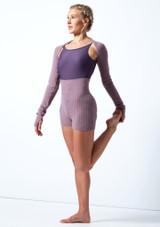 Pantalones cortos de danza de punto con cinturón enrollable Delilah Move Dance Violeta  Delante-2 [Violeta ]