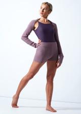 Pantalones cortos de danza de punto con cinturón enrollable Delilah Move Dance Violeta  Delante-1 [Violeta ]