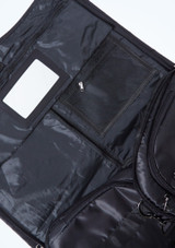 Bolsa de lona para ropa Capezio Negro  Detalle delantero-1 [Negro ]