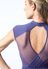 Maillot de malla con cuello alto de Mirella Azul Marino Detalle trasero-1 [Azul Marino]