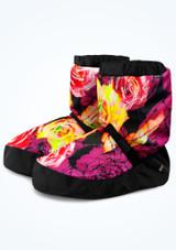Botín de calentamiento con estampado floral Bloch - Violeta Violeta  Delante-2 [Violeta ]