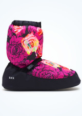 Botín de calentamiento con estampado floral Bloch - Violeta Violeta  Lado-3 [Violeta ]