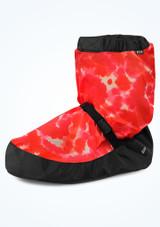 Botín de calentamiento con estampado Tie Dye para niña de Bloch - Rojo Rojo  Delante-1 [Rojo ]