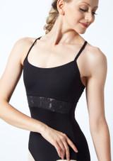 Maillot camisola con espalda cruzada bordada Bloch