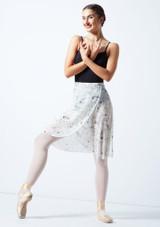Falda de danza cruzada floral Move Dance - Marfil Cream Delante-1 [Cream]