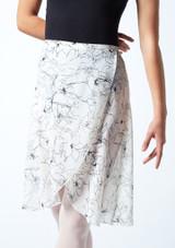 Falda de danza cruzada floral Move Dance - Marfil Cream Detalle delantero-1 [Cream]