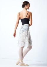 Falda de danza cruzada floral Move Dance - Marfil Cream Detrás-1 [Cream]