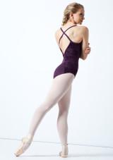 Maillot espalda abierta y malla Floriade Bloch Púrpura Oscuro Detrás-1 [Púrpura Oscuro]
