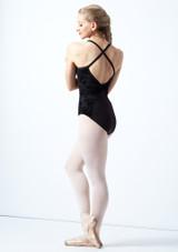 Maillot espalda abierta y malla Floriade Bloch Negro  Detrás-1 [Negro ]