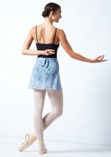 Falda de danza cruzada floral Move Dance - Azul Azul  Detrás-1 [Azul ]