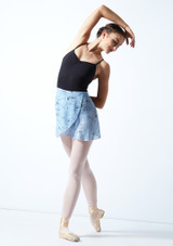 Falda de danza cruzada floral Move Dance - Azul Azul  Delante-1 [Azul ]